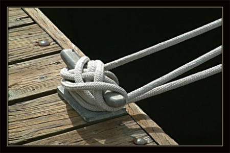 Rope Metal Wood Water