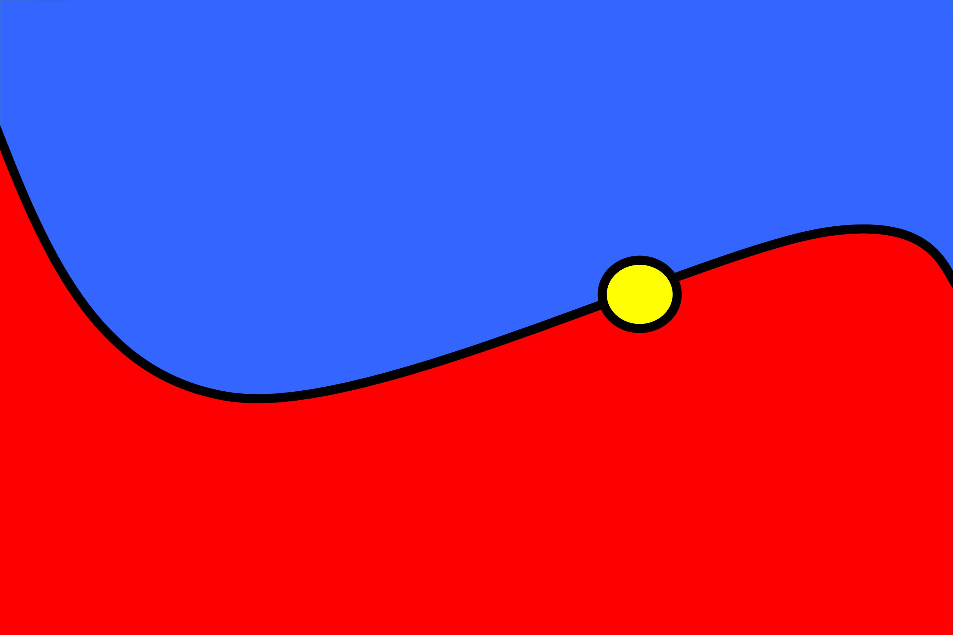 Blue yellow red pillows