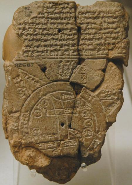 Earliest known world map: Iraq 700-500 BC