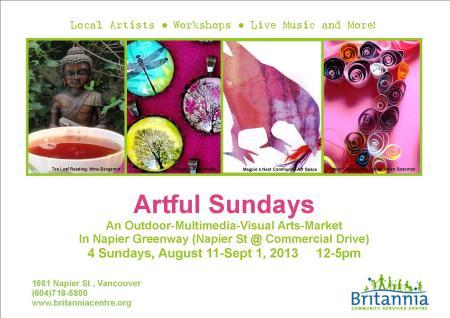 Artful Sundays 2013  Poster 3