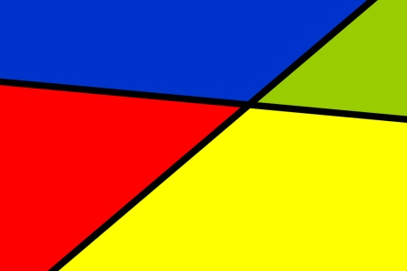 Yellow Red Blue Green