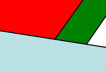 Blue Red Green White