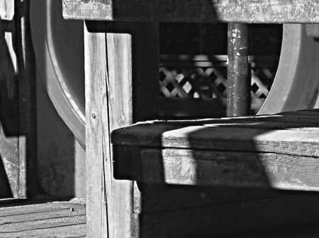 shadows on wood
